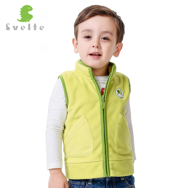 SVELTE Spring Autumn and Winter Boys Girls Fur Fleece Vest  Children Clothes Kids Boys Vest Colorful Veste Enfant Fille
