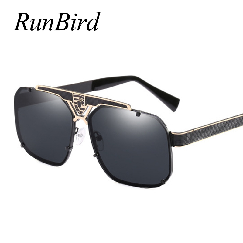 RunBird Brand Mens Sunglasses UV400 Lens Eyewear Accessories Male Driving Sun Glasses For Men/Women Goggle Oculos 1343R
