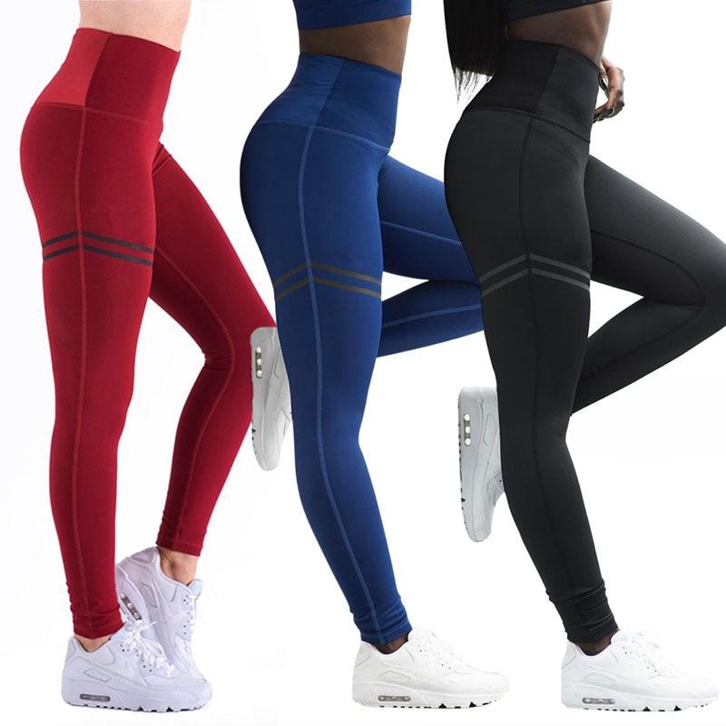 2018 de las mujeres Pantalones de deporte Push Up Sexy gimnasio Leggings de deporte mujeres corriendo medias Joggers ajustados pantalones de gimnasio H5