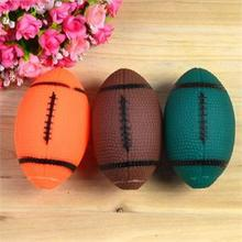 Hot New Pet Dog Chew Toy Small Rubber Squeaky Rugby Ball Dog Squeaky Toy