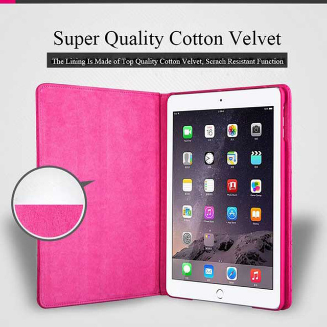 Luxury Diamond Leather Protective Case for iPad Air 2 9.7 inch Crown Plaid Foldable Stand Tablet Cover for iPad 6 Air 2