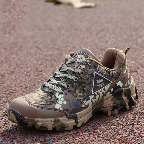 Army camouflage shoes men woodland shoes autumn super light breathable special forces training shoes Pakistan