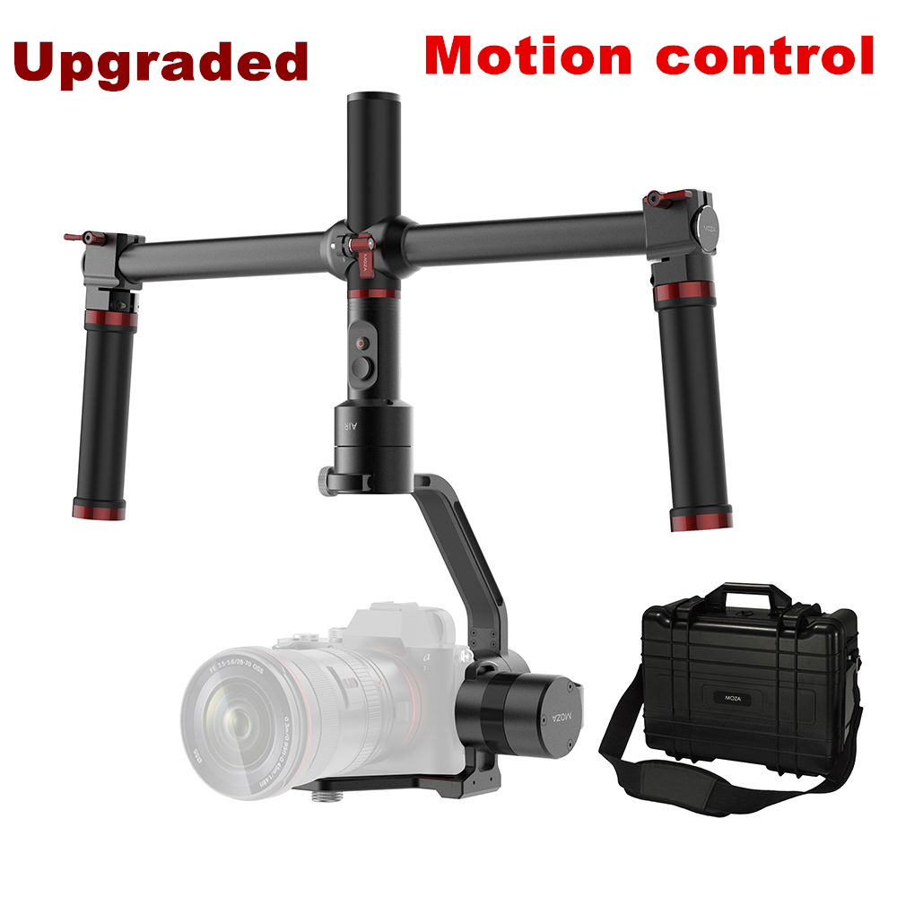 Upgraded MOZA Air 3 Axis Handheld Gimbal DSLR Stabilizer Motion control Dual handle For Canon 5d4 SONY A7 GH5 Cameras 2.5KG yuneec q500 typhoon quadcopter handheld cgo steadygrip gimbal black
