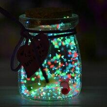 10 г красочный флуоресцентный светится в темноте яркая светящаяся сила ночного украшения DIY звезда желая частицы бутылки