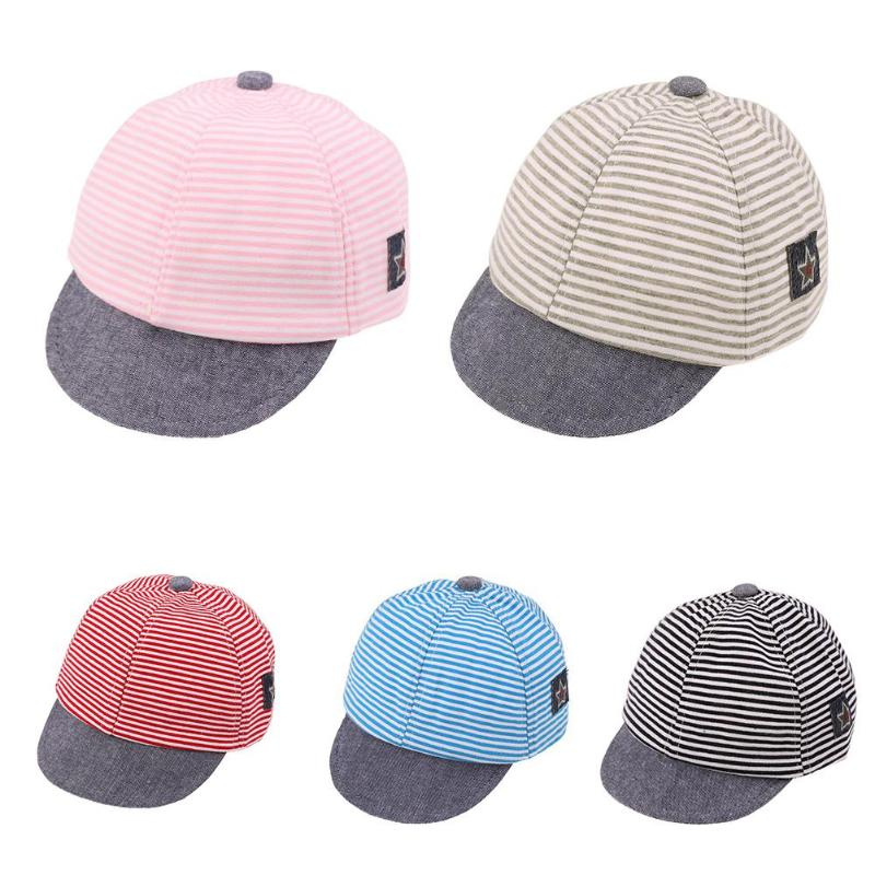где купить Unisex Baby Kids Sun Hat Summer Stripe Pentagon Cartoon Fashion Cap for Boy Girl Toddler Sun Baseball Cap Kids Cotton Brim Hats по лучшей цене