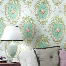 Espejo de jardín de estilo europeo, papel tapiz no tejido, papel tapiz de flores vintage, tienda para sala de estar, dormitorio, sofá, papel tapiz de fondo