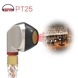 Image 4 - SENFER PT25 dans loreille type de bouchon doreille casque fièvre fiche plate unité HIFI graphène avec câble MMCX remplaçable PT15 DT6 ZSN DT8 IM1 T2