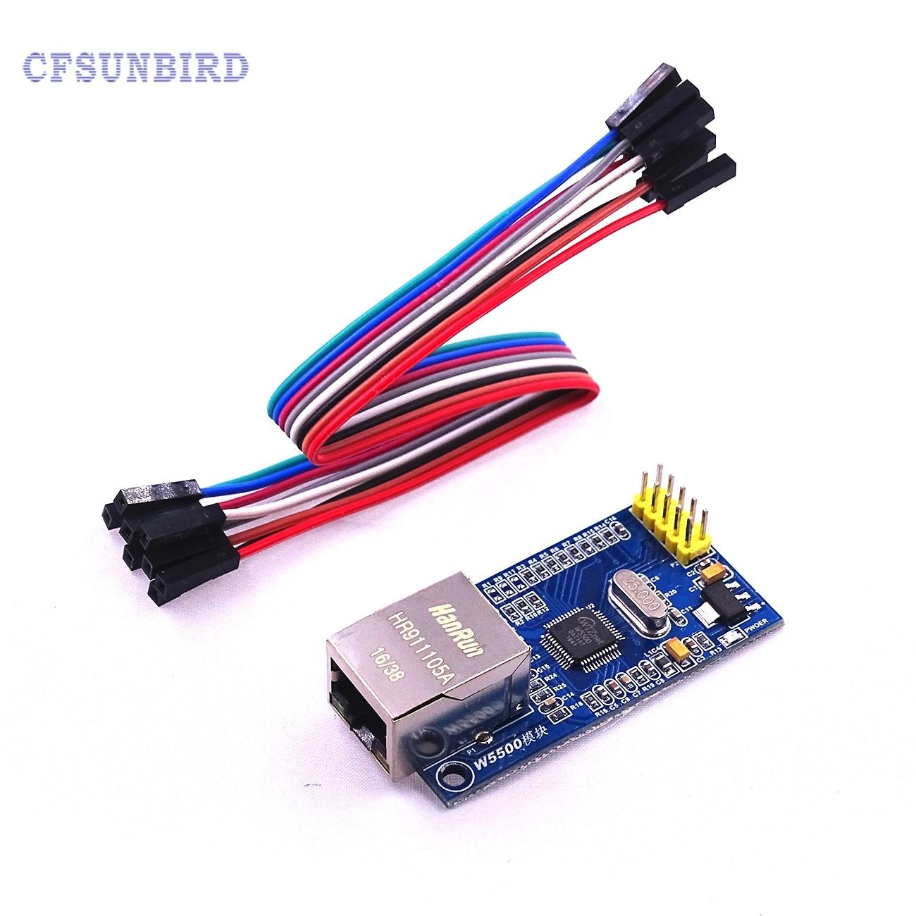 все цены на  1pcs/lot W5500 Ethernet network module hardware TCP / IP 51 / STM32 microcontroller program over W5100  онлайн