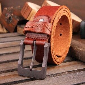 Image 3 - [DWTS]2016 real cow genuine leather men belt luxury buckle belts for men strap male pin buckle masculino cinturones hombre