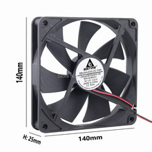 5 Pcs/Lot Gdstime Silent Quiet 140mm Cooler PC Case Cooling Fans 14cm DC 12V 2Pin Computer