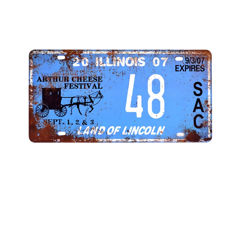 US $4 5 40% OFF|Texas Car Number License Plates Vintage Metal Tin Signs  Home Decor Bar Garage Cafe Motorcycle Decorative Plates USA Art Posters-in