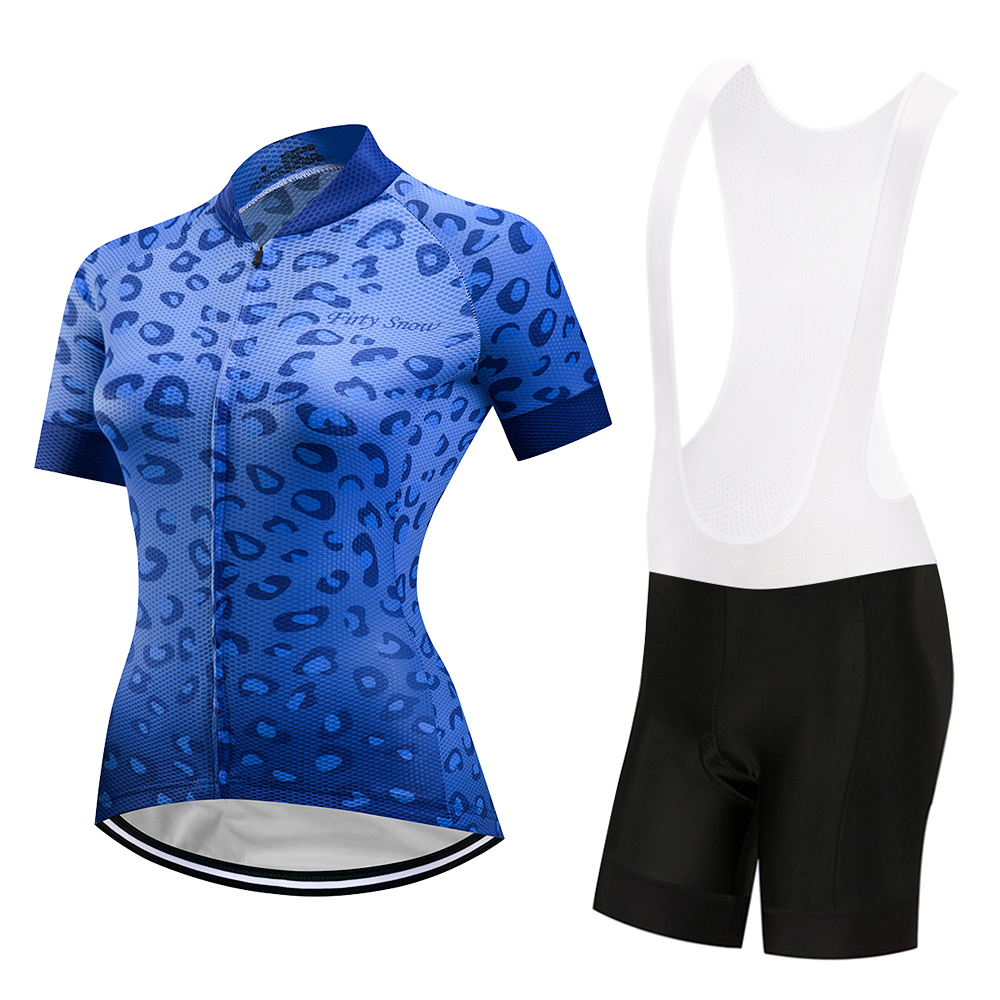 Women s Bicycle Clothing Set Short Sleeve Race Fit Cycling Jersey   Mountain  Bike Shorts Kit Ladies Cycling Set Reflective-in Cycling Sets from Sports  ... cb0de0296