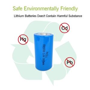 Image 5 - 20個/pkcell 3.6 3.6vcサイズリチウム電池ER26500 9000 2600mah Li SOCl2バッテリー