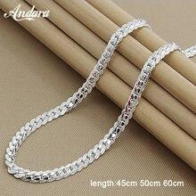 abff6bc0aca6 Precio al por mayor 6 MM lado Collar para los hombres y las mujeres de la  joyería de la plata esterlina 925 de la cadena de la s.