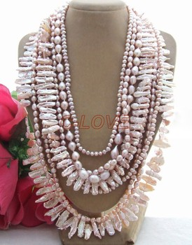 Stunning! 9 strands 24 mm Biwa Pearl Necklace