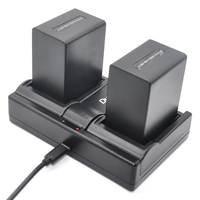 2 X DuraPro NP FV100 NPFV100 FV100 Rechargeable Battery USB Dual Charger For Sony Digital Camera