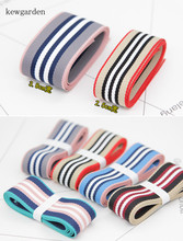 Kewgarden 38mm 1-1/2 Stripe Cotton Thick Satin Ribbons Handmade Bowknot Ribbon DIY Riband Garment Accessories 6M / Lot kewgarden handmade tape 1 1 2 38mm thick soft cotton fabric satin ribbon diy bow tie brooch ribbons double face riband 8 meter