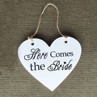 Wooden Heart Shaped Wedding Supplies Double Sided English Lettering Listed Wooden Wedding Props Hanging Board