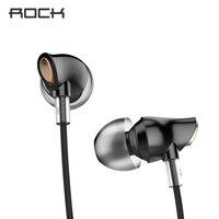 Original Rock Zircon Stereo Earphone 3 5mm In Ear Earphone Nano Zircon Earphone Wire Control With