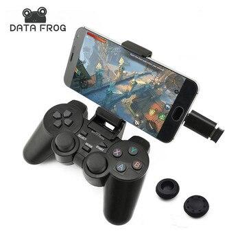 Android のワイヤレスゲームパッドアンドロイド電話/PC/PS3/Tv ボックスジョイスティックのため 2.4 グラムジョイパッドゲームコントローラ xiaomi スマートフォン