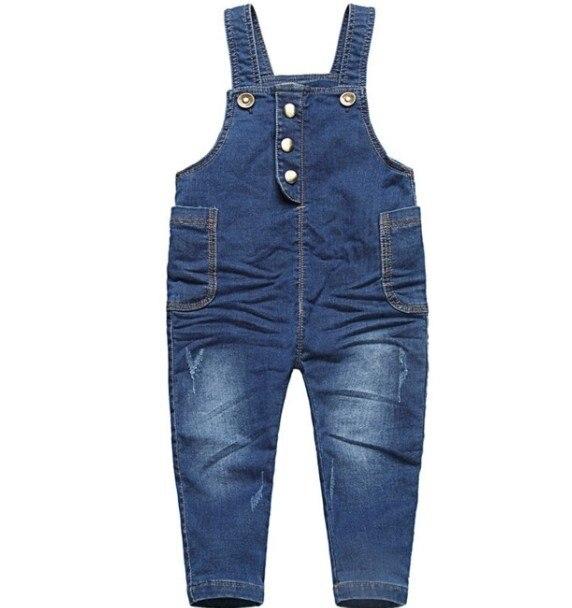 1-2.5Y new 2016 autumn letter girls boys denim overall baby girl jeans pant boys overalls children denim jeans kids pant