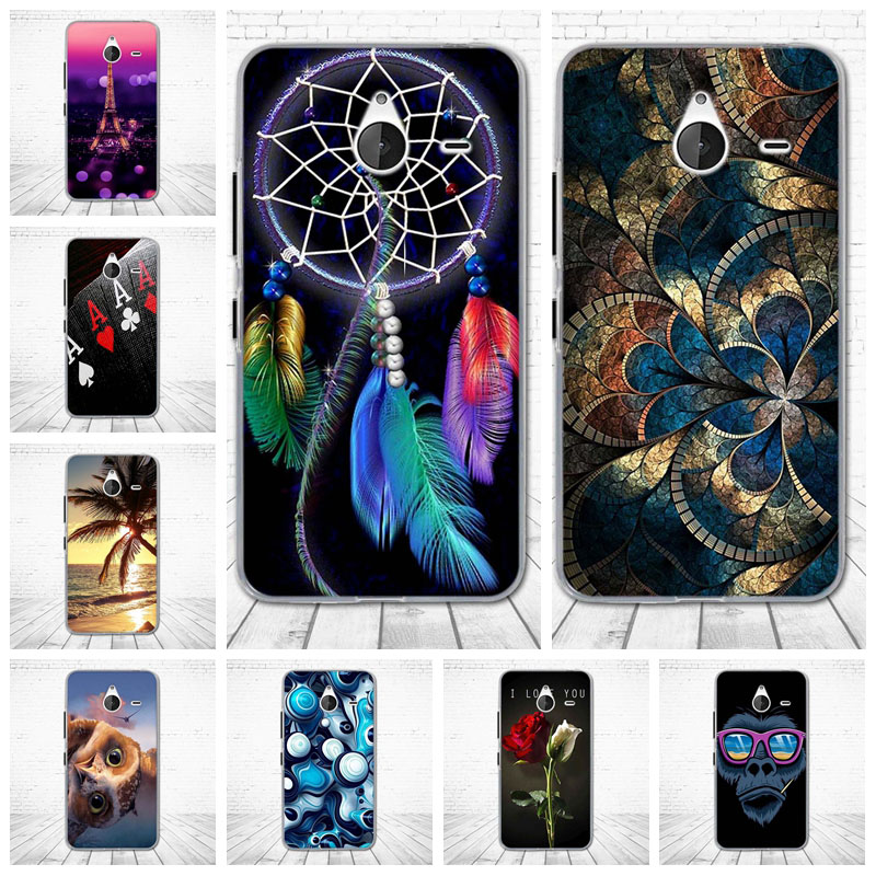 For Nokia Microsoft Lumia 640XL Soft TPU Silicon Rubber Case for Nokia 640XL Printed Cartoon Phone Cases Protective Back Cover image