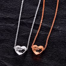 Модные ожерелья золотого цвета в форме сердца для женщин с подвесками