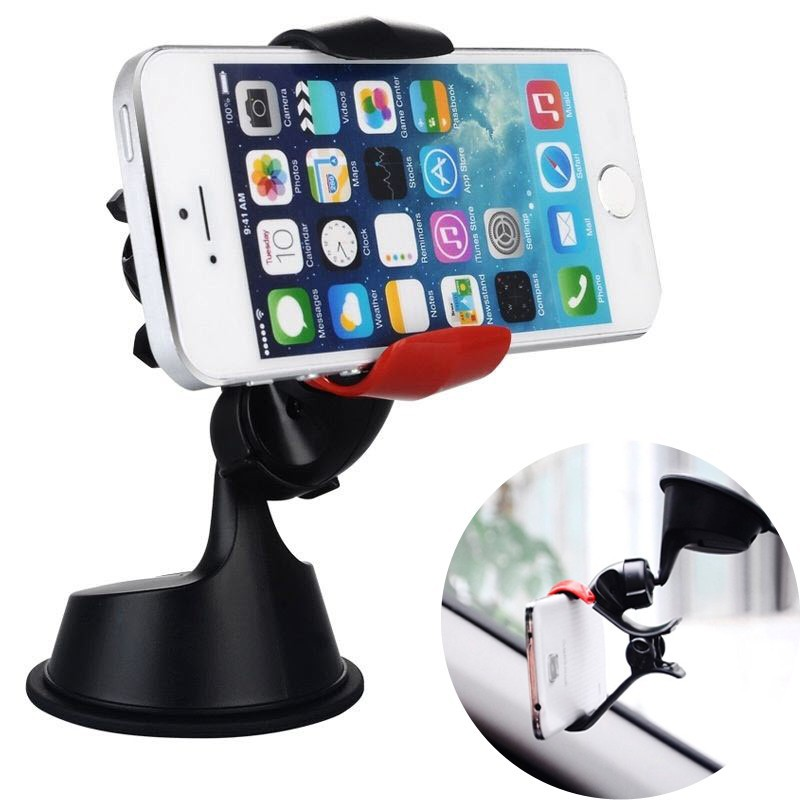 Universal Rotation Car Windshield Dashboard Sticky Suction Cup Phone Holder Mount Stands voiture for iPhone 6 6S 7 8 Plus X