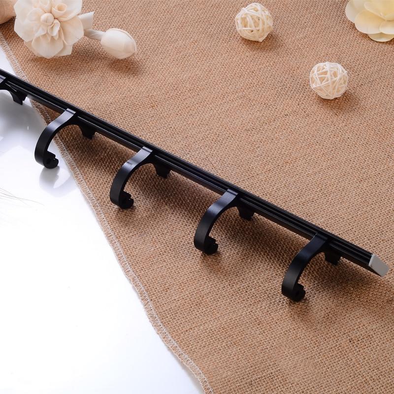 Robe Hook Aluminum Bathroom Hook for Towels Clothes Coat Hook Wall Hanger Door Decorative Hat Bag Hook Black Bath Accessories