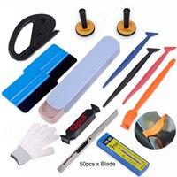 EHDIS Vinyl Wrap Car Tools Set Car Accessories Carbon Fiber Sticker Film Magnetic Holders Auto Window Tint Squeegee Cutter Knife