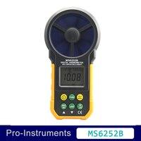 MS6252B цифровой анемометр T & Rh Сенсор ветер Скорость измеритель скорости USB Интерфейс