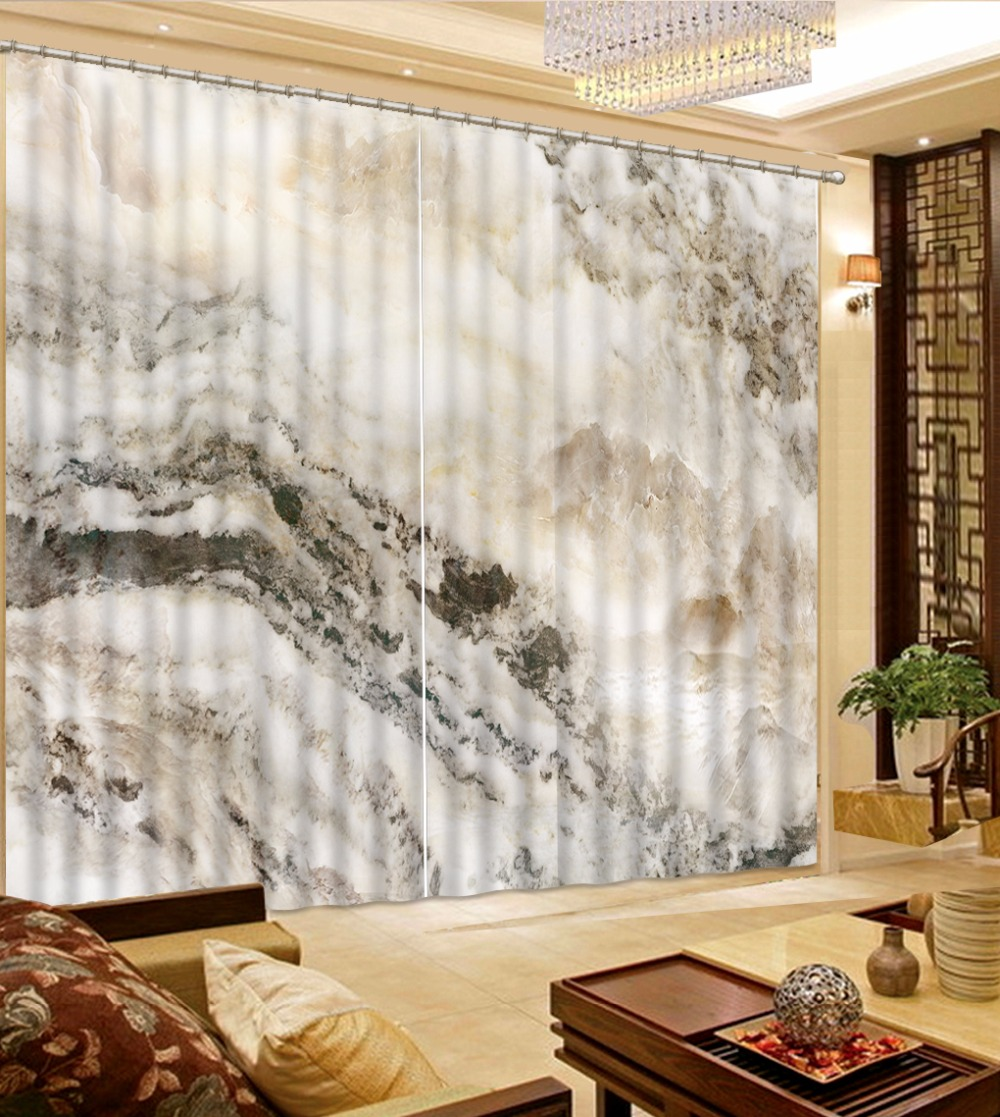 Exclusive fabrics painted chevron printed cotton curtain free - Chinese Hand Painted Mountain 3d Curtains Printing Blackout Sheer Curtains For Living Room Bedroom 3d Cotton Curtains