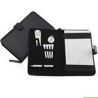 CRESTGOLF Golf Wynik Posiadacza Karty PU przykryć Ołówek/Narzędzia Divot/Golf Tees/Kapelusz Klip