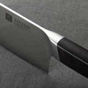 Image 5 - XINZUO 4 шт. набор кухонных ножей из нержавеющей стали, немецкая сталь 1,4116, высокое качество, шеф повар Santoku Nakiri Boning ножи Ebony Ручка