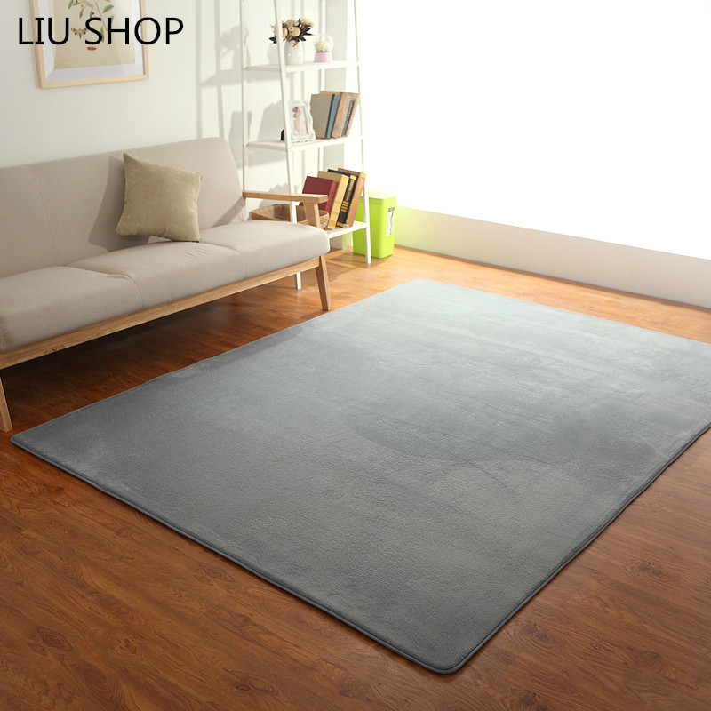 US $11.86 30% OFF|LIU 16 colors coral velvet carpet livingroom bedroom rug  yoga soft sofa mat hallway tapetes children play mat good quality-in Carpet  ...