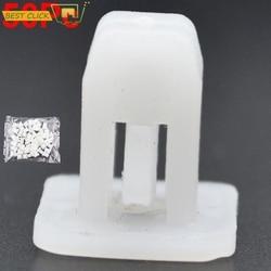 50Pcs White Square Auto Bumper Fastener Rivet Retainer Push Engine Cover Fender Car Door Trim Panel Auto Plastic Clip Fasteners