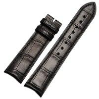 20 мм 21 мм ручной ремешок для часов Ремешок из кожи аллигатора Браслет загнутым концом специальные Интимные аксессуары чёрный; коричневый дл