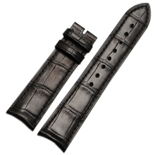 20mm 21mm Handmade Watchband Alligator Leather Strap bracelet curved end special Accessories Black Brown for brand
