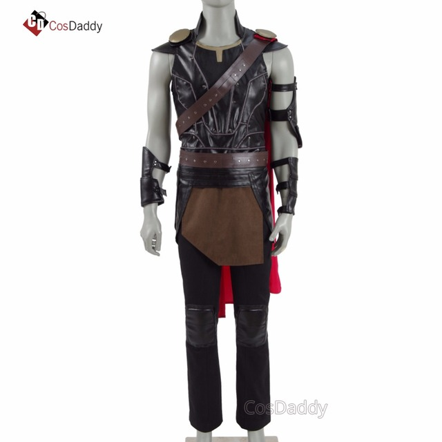 077683c02847 Thor Ragnarok Cosplay Costume Thor Odinson Clothes Jacket leather Brand  CosDaddy