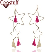 Star Tassel Women Earrings Nature Stone Vintage Jewelry Wholesale Dangle pendientes brincos New Arrival Gold earrings for