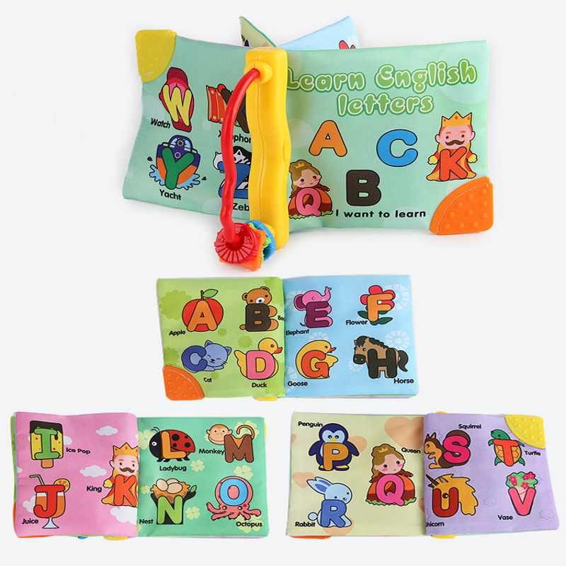New Soft Cloth Baby Boys Girls Books BB Paper Teether Sound Infant Educational Learning Resources Toys For Newborn Baby Gift ...