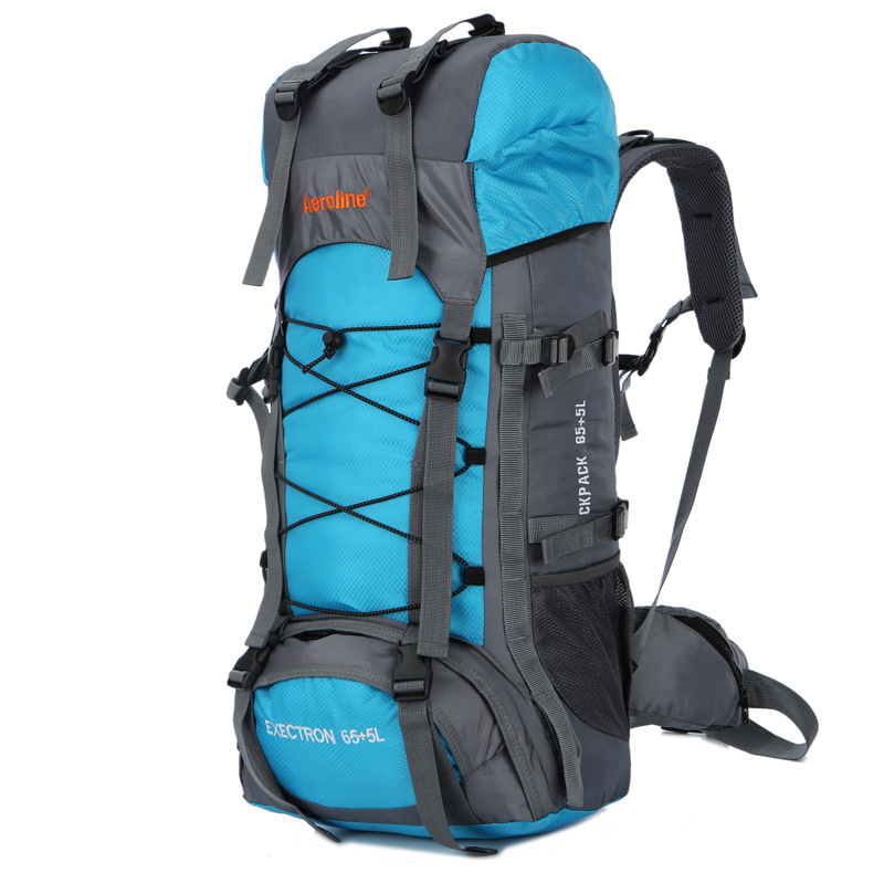 70L Outdoor Climbing Bags Waterproof Hiking Bag Sports Backpack Camping Travel Pack Mountaineer Climbing Sightseeing Rucksack ...