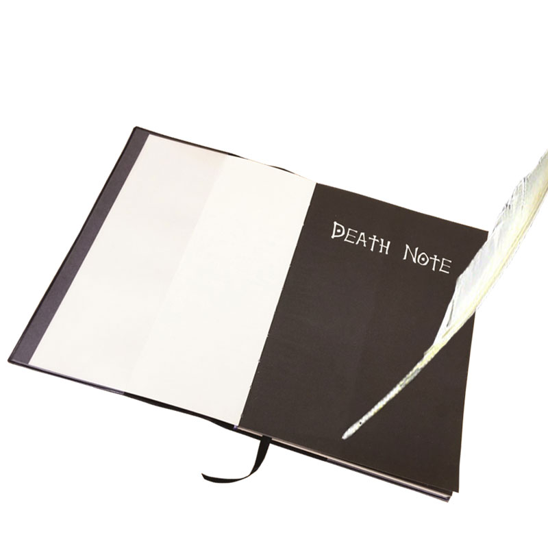 Death Note book Lovely Fashion Anime Theme Death Note Cosplay Notebook New School Large Writing Journal 20.5cm*14.5cm anime death note male black short curly cosplay wig show
