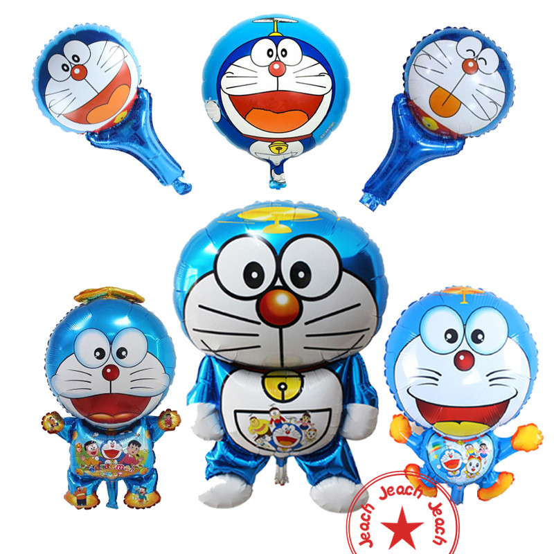 foil balloons helium inflatable wedding large personalized baby children 1st birthday party decoration cat doraemon balloon