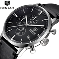 Watches Men Luxury Brand BENYAR Genuine Leather Quartz Watch Male  Dive 30m Wristwatches Casual Sport Watch relogio masculino