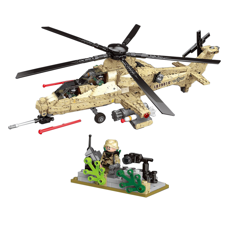 Military Series WZ10 Helicopter Fighter Mini Soldier Figures Weapons Building Blocks Bricks Kids Toys Gift compatible LegoINGlysMilitary Series WZ10 Helicopter Fighter Mini Soldier Figures Weapons Building Blocks Bricks Kids Toys Gift compatible LegoINGlys