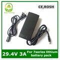 24 V cargador de batería de litio cargador 29.4 V 3A for7 Series batería de litio para la bici eléctrica batería de litio