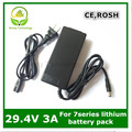 24 V carregador de bateria de lítio 29.4 V 3A carregador for7 Series bateria de lítio para a bicicleta elétrica da bateria de lítio