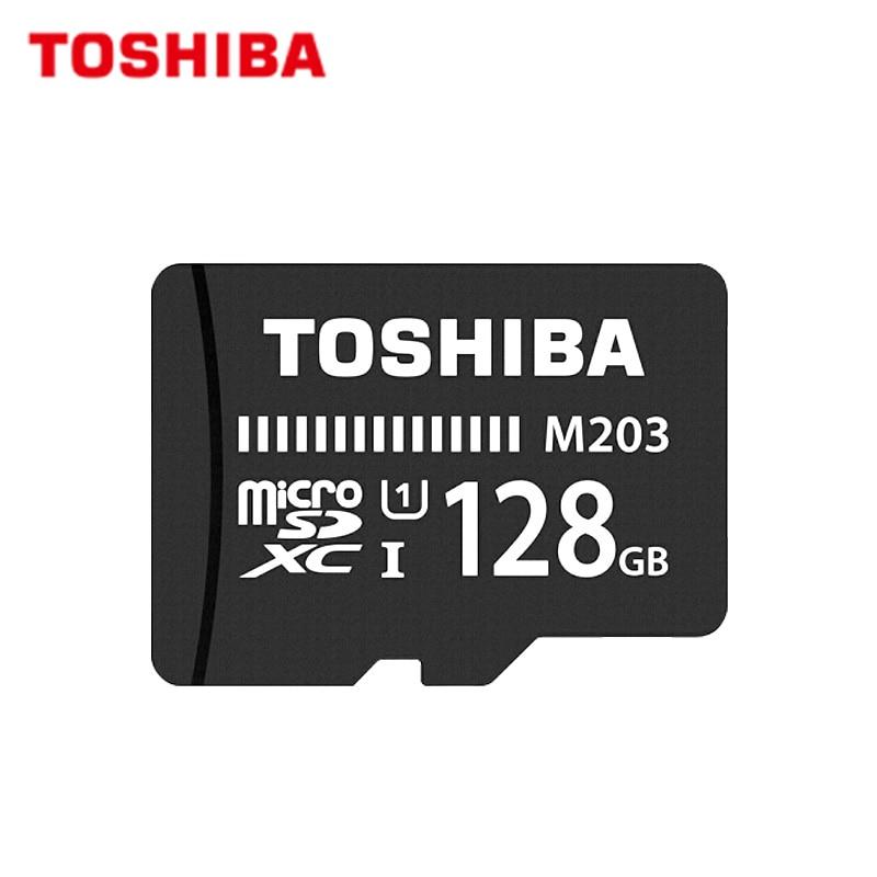 100% Original TOSHIBA M203 Micro SD Card 16GB 32GB SDHC High Speed 100MB/S U1 64GB 128GB SDXC Memory Card UHS-I TF Card Microsd