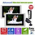 """Homefong 10"""" Wired Handsfree Video Door Phone Video Entry Intercom System with CCTV CMOS Camera Home Security Rainproof"""